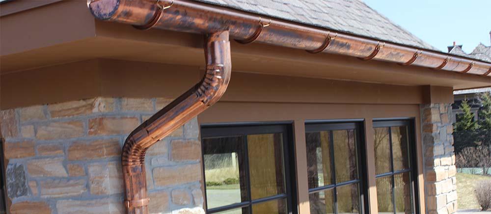 Copper Gutters Contractor North VA Fairfax Arlington VA Counties Maryland Was DC